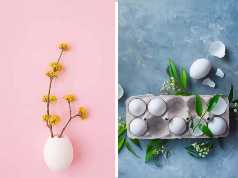 Artesanato com cascas de ovos para a Páscoa