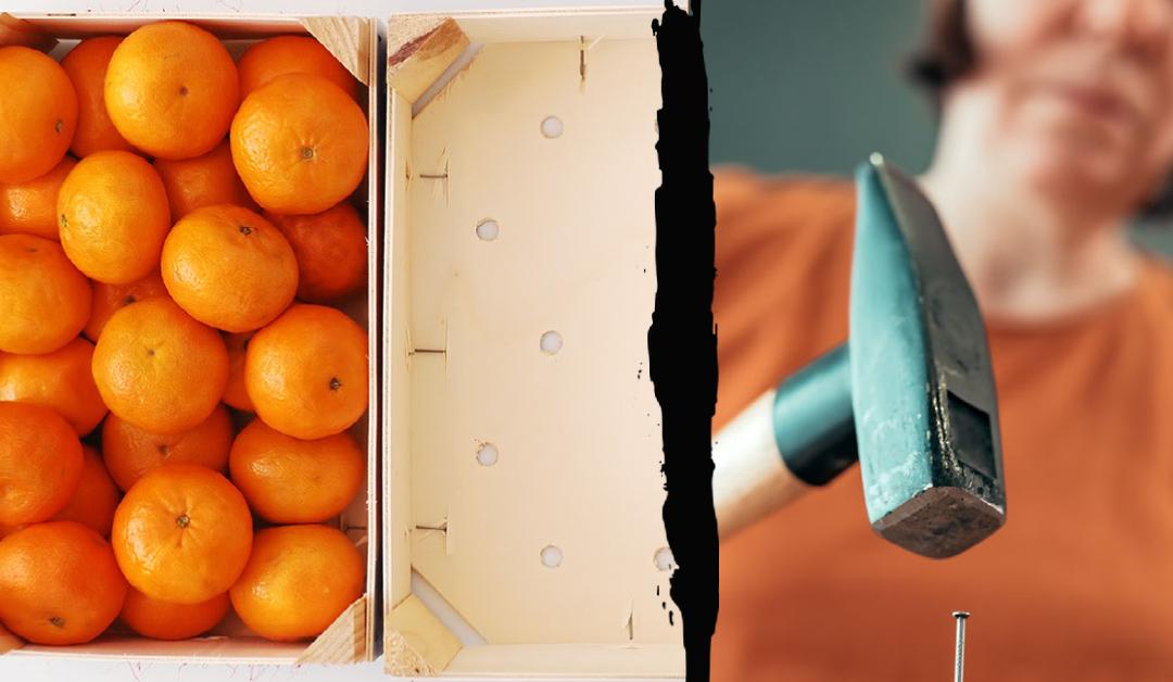 Continuar a utilizar caixas de tangerina